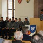 Feierliches Gelöbnis von Bundeswehr-Rekruten im Rathaussaal