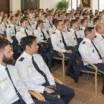 Ausbildungsseminar der Bereitschaftspolizei zu Besuch im Rathaussaal