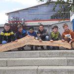 Schüler der Pestalozzischule bauen Nisthilfe für Insekten